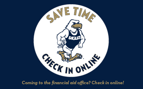 Coming to the financial aid office? Check in online!