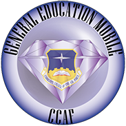 General Education Mobile CCAF logo purple diamond in circle